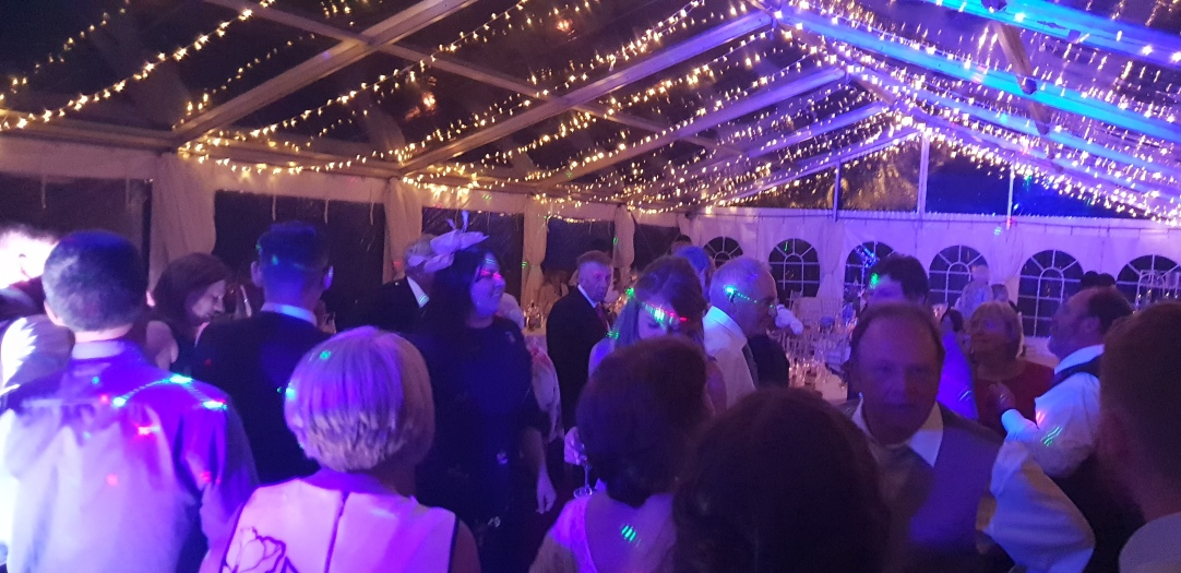 More dance floor pictures in the marquee at Kirkbean.